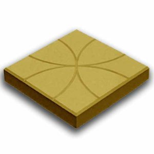 плитка цветок желтая